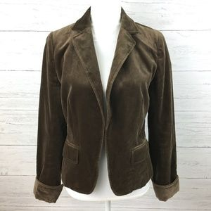 J. Crew Women's Brown Velour Blazer